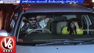 Drunk And Drive || Drunkard Ashish Chopra Attacks On Media || V6 News