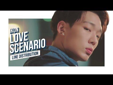 iKON - LOVE SCENARIO Line Distribution (Color Coded) | 아이콘 - 사랑을 했다