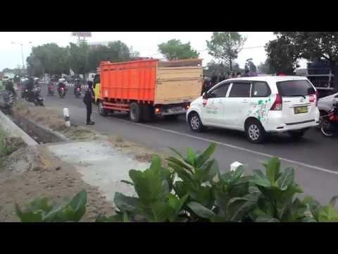 Kecelakaan Mobil di Jl Klaten Jogja