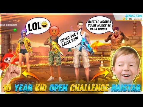 9 Year Kid Call Raistar Noob😡 Raistar Challenged 🤛Fist Fight Garena Free Fire