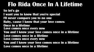 Flo Rida Once In A Lifetime - Lyrics