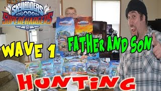 Father And Son Go Skylanders SuperChargers Hunting! | Wave 1 Characters And Vehicles : Here We Come