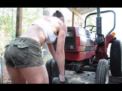 How to lift weights using tractor counter weights for crossfit style workout for ultimate fitness
