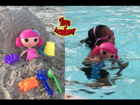 Playtime with Lalaloopsy Sew Magical Mermaid On The Playground, Sand and Water Changes Hair Color