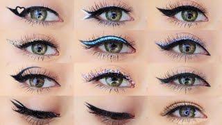 Eyeliner Makeup Tutorial   12 Different Eyeliner Looks
