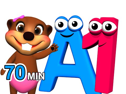 ABCs 123s More Alphabet Numbers Nursery Rhymes Kids Learn 3D Cartoons by Busy & Baby Beavers
