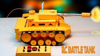 How To Make Battle Tank with Remote control that fire
