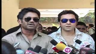 Sunil Shetty And Bobby Deol For the movie Thank You