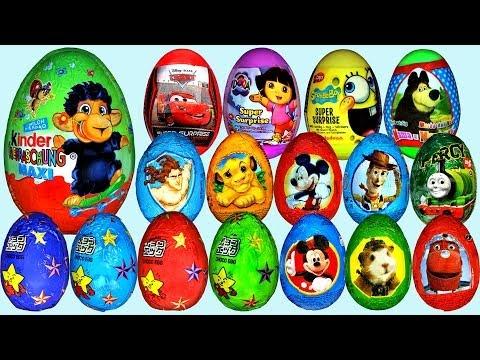 80 Surprise eggs Маша и Медведь Kinder Surprise Mickey Mouse Disney Pixar Cars 2