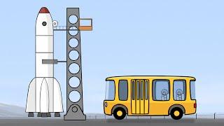 Großbau für Kinder - Die Rakete - мультик на немецком - cartoons in German