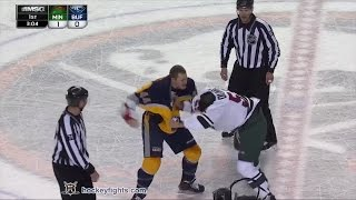 Mathew Dumba vs Nicolas Deslauriers Jan 15, 2015