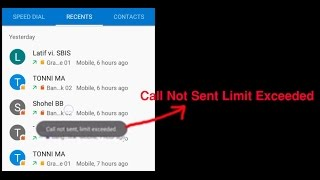 Call Not Sent Limit Exceeded problem solution in Android Lollipop