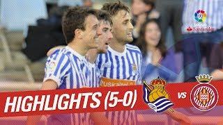 Resumen de Real Sociedad vs Girona FC (5-0)