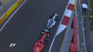 Hamilton & Vettel Come To Blows | 2017 Azerbaijan Grand Prix