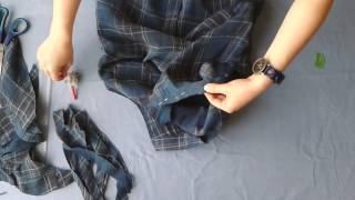 DIY Gömleği Kolsuz Bluz