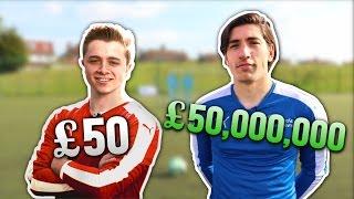 £50 Footballer Vs. £50,000,000 Footballer   FREE KICKS