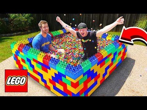 PUTTING 50 000 GUMBALLS IN A LEGO POOL