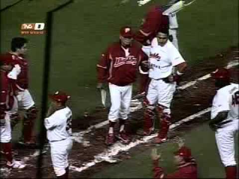 Bronca Saraperos vs Diablos Rojos Playoffs 2010