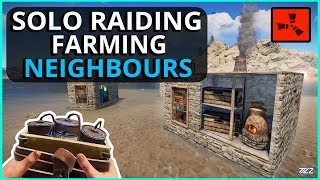 Rust SOLO RAIDING Neighbours With ALL My SATCHELS!! Rust Solo Survival Gameplay Ep3