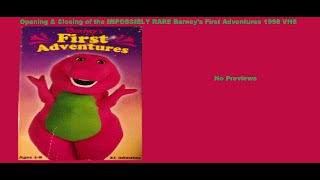 Barney's First Adventures IMPOSSIBLY RARE 1998 VHS Opening & Closing