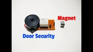 How To Make A Magnetic Door Security Alarm System By Using Hall Effect Sensor.Simple Security System
