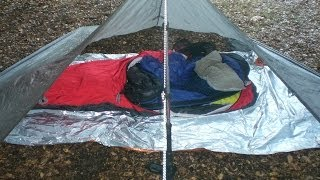 Tarp shelters in cold weather