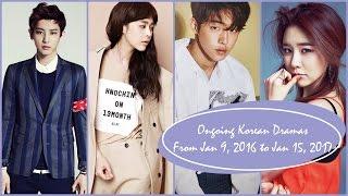 Ongoing Korean Dramas From Jan 9, 2017 to Jan 15, 2017