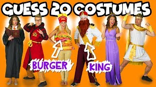 Guess the Costumes 20 Costumes in 5 Minutes for Girls and Boys or Couples. Totally TV