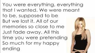 Avril Lavigne - My Happy Ending [Lyrics/Letra]