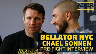 Chael Sonnen Reacts to Wanderlei Silva Pushing Him at Presser - MMA Fighting