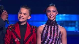 D'Angelo and Amanda dance Pasodoble  Americas got talent season 8 episode 18