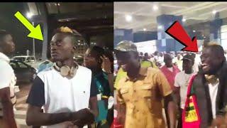 WOW- KWADWO NKANSAH LIL WIN AT AIRPORT BACK FROM UK SHOWS