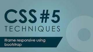 Iframe responsive using bootstrap css framework