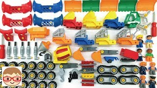 Excavator assembly for kids | Lorry videos for children | Trucks for kids
