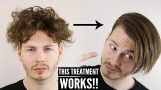 Keratin Hair Treatment - Mens Curly Hair Transformation + How To Style 2018