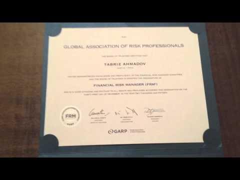 Got FRM Certificate