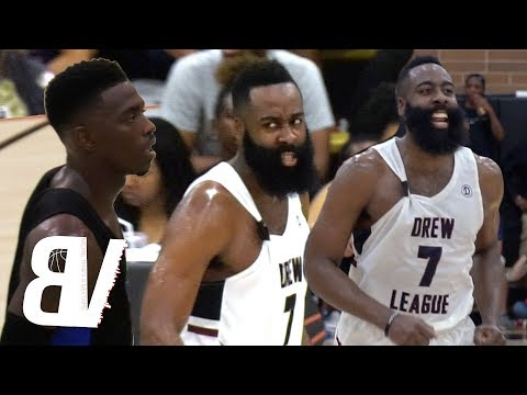 Xxx Mp4 James Harden VS Drew League MVP Frank Nitty NBA Players Come To SAVE Drew League Record 3gp Sex