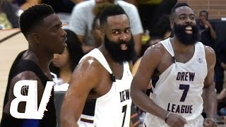 James Harden VS Drew League MVP Frank Nitty! NBA Players Come To SAVE Drew League Record!
