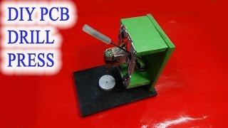 Homemade mini DIY PCB drill press table from rails CD drives