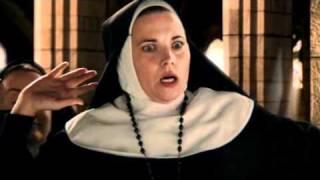 America Olivo as a Sexy Nun
