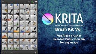 Free Krita brushes v6 presentation