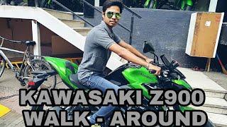 Kawasaki Z900 Walk-around, Price, Mileage, Power. (green color )