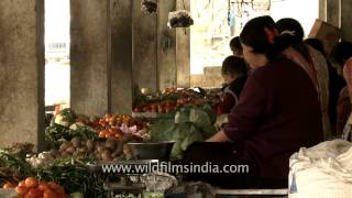 Vegetable vendors of Senapati town, Manipur