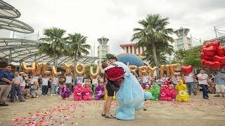 THE CAREBEAR PROPOSAL - Public Flash Mob Proposal Singapore - Andrew & Anna (Link in description)