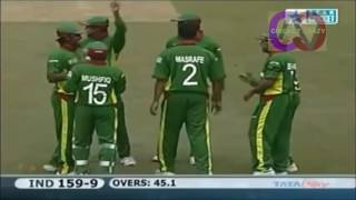 Mashrafe 4 wickets against India in WC 2007