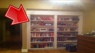 لأحظ أن المكتبة تتحرك | وعندما فتح خلفها اكتشف مكان سري قديم والصدمة ما وجدوا بداخلها !!
