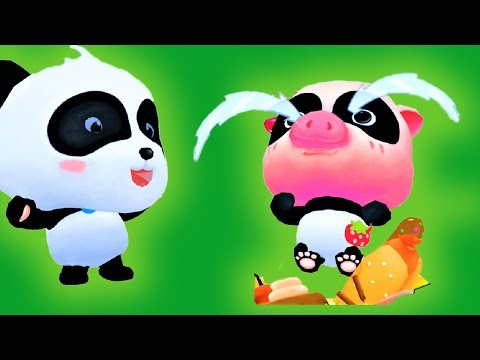Labyrinth Town Help The Little Panda Fight Monsters Food Baby Panda Kids Games