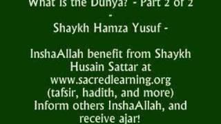 Delusion of This World - Shaykh Hamza Yusuf 2 of 2