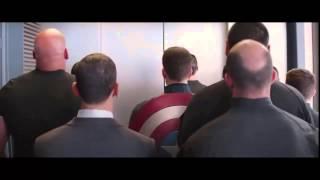 Emboscada en el ascensor - El Capitán América: El soldado de invierno