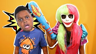 Bad Baby Shasha Becomes Joker Girl! - Shiloh Crazy Pranks - Onyx Kids